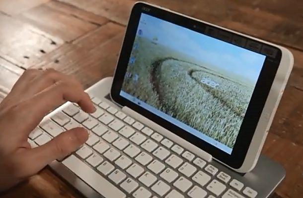 ユニークな収納方法、8インチ Windowsタブレット『Acer Iconia W3』のハンズオン動画