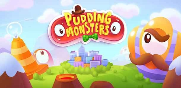 価格 99円、プリンを上手にくっつけるゲーム「Pudding Monsters HD」の試用レビュー / Androidアプリ