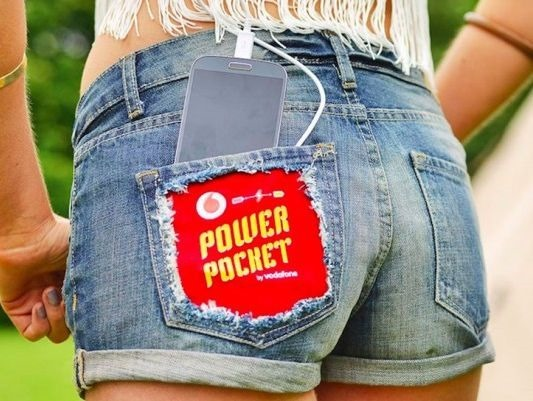 Vodafone、体温で充電できる『Power Pocket』が未来感