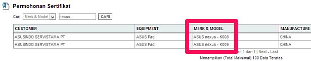 第2世代『Nexus 7』か、「ASUS K008/K009」がインドネシアでも認証通過