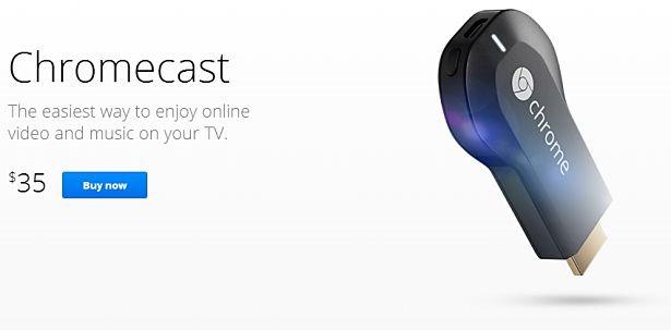 Google、HDMIドングル『Chromecast』を5/28日本発売―価格や販売店舗