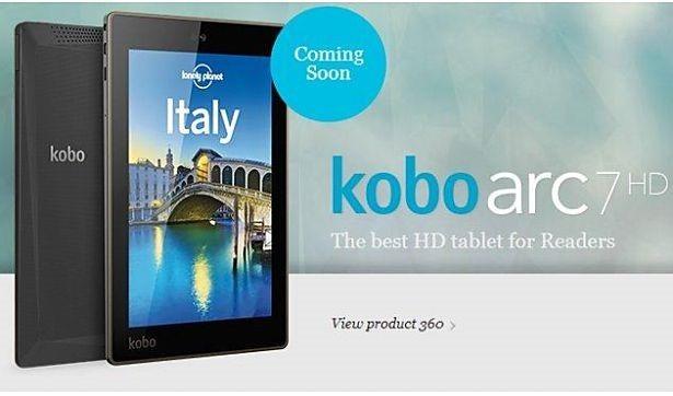 Kobo、7インチ(1920×1200)Tegra3タブレット『Kobo Arc 7HD』を発表、スペックや価格