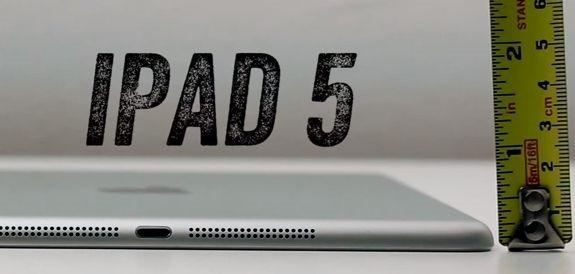新型『iPad 5』と iPad 4 のサイズ比較動画が公開される