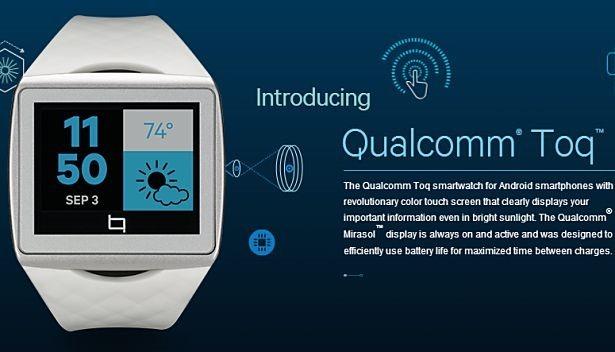 Qualcomm、スマートウォッチ『TOQ(トーク)』を発表(スペック)