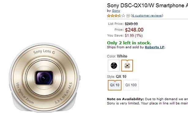 Sony、『DSC-QX10/100』がAmazon.comで販売開始