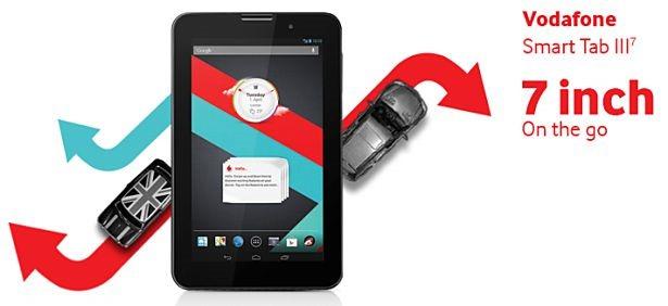 Vodafone、Lenovo製Androidタブレット『Smart Tab III 7』発表―スペック