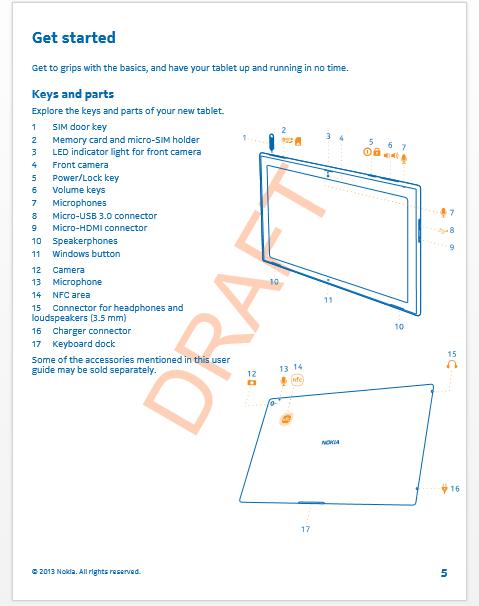 Nokia製WindowsRTタブレット『Lumia 2520』のユーザーガイドが流出