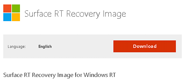 MS、Surface RT向け「Recovery Image」の配布開始