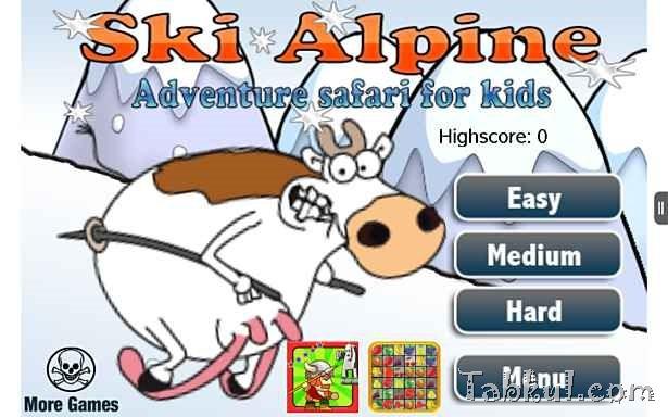 価格 129円、シンプルなジャンプゲーム「Ski Alpine: Adventure Safari for Kids」の試用レビュー