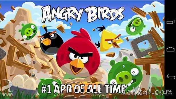 価格 98円、大人気アクションパズル「Angry Birds (Ad-Free)」の試用レビュー