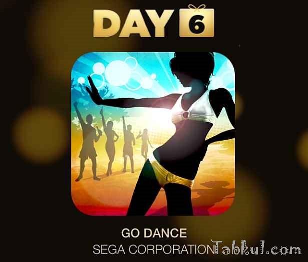 Apple『12 DAYS プレゼント』6日目:アプリ/SEGA『GO DANCE』