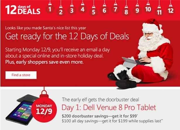 Microsoftが『Venue 8 Pro』を期間限定99ドルで販売(米/カナダ限定)