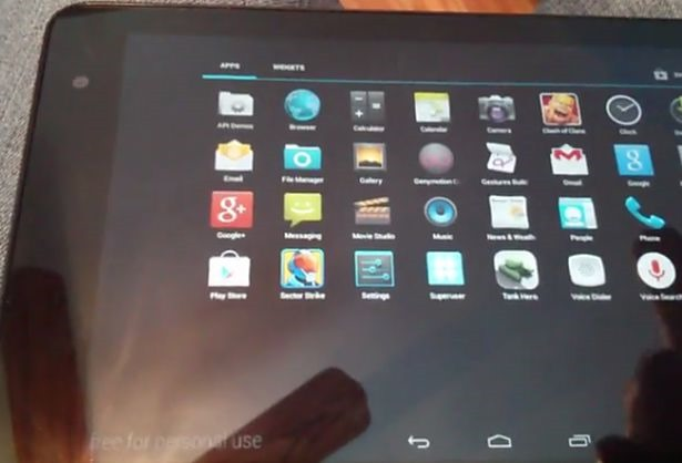 Venue 8 Pro でAndroidエミュレータ『Genymotion』を動作させている動画