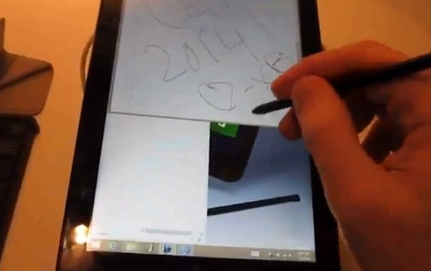 『Asus VivoTab Note 8』のハンズオン動画―スタイラスペンや外観