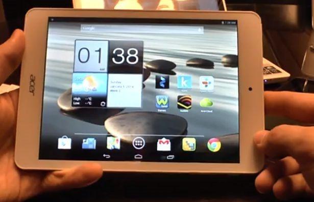 格安149ドルの7.9インチ『Acer Iconia A1-830』ハンズオン動画―Androidタブレット