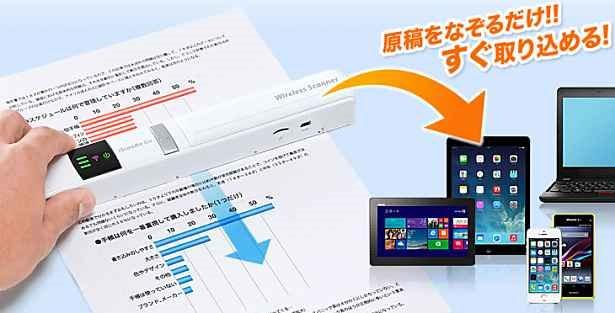 リアルタイム表示できるWiFiハンディスキャナー『400-SCN023』発売―サンワサプライ