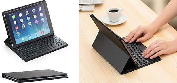 ソフトバンクBB、iPad Air専用キーボード付きケースを2/21発売―価格と機能