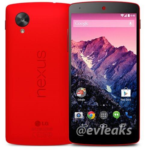 レッドカラー『Nexus5』のプレス画像が流出