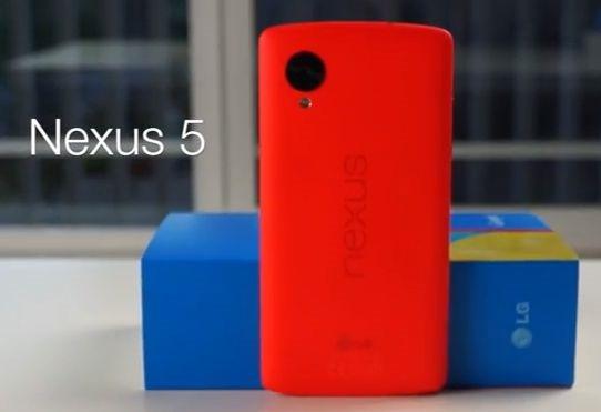 『Nexus 5』の新色「ブライト レッド」開封動画が投稿される