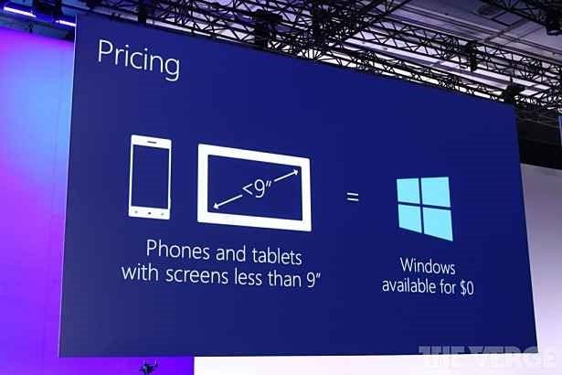 9インチ以下のデバイスはWindows OSが無料に―新しいWindows for IoTも無償へ