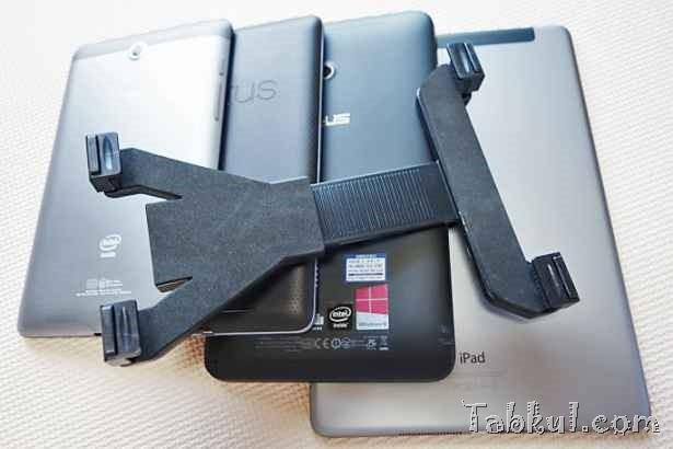 カメラ三脚にセットできるタブレット用ホルダー「ドリームスポット」、4タブレット装着レビュー
