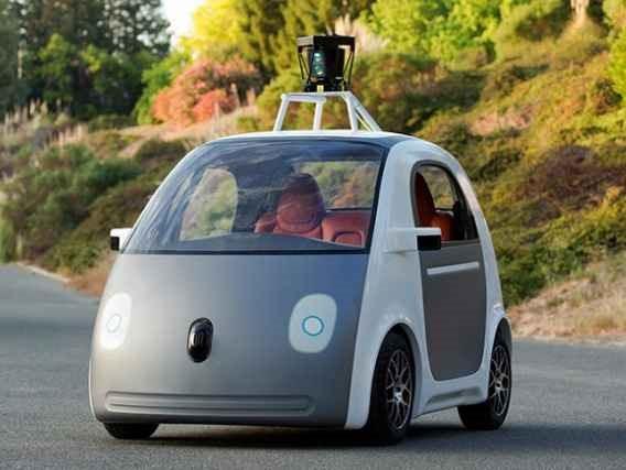 未来の車、Googleがハンドルやブレーキのない自律走行車の動画公開