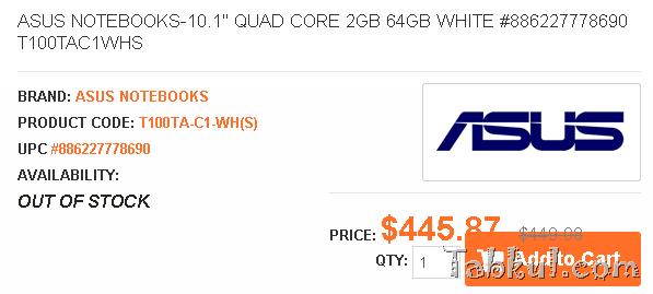 ASUSのAtom Z3775版『T100TA』、レッド/ホワイト色が見つかる