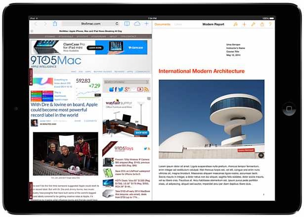 iPad向けiOS 8、画面分割によるマルチタスク機能を追加か