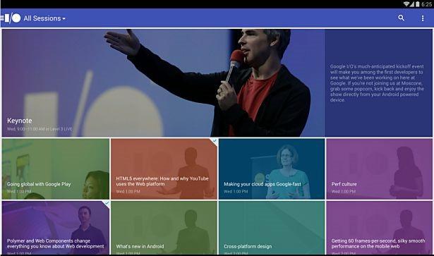 Google I/O 2014公式Androidアプリ登場、スケジュールやライブ映像に対応