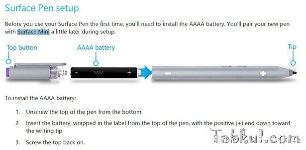 Surface mini は「Surface Pen」をサポート―Surface Pro 3と同じペンが利用可能