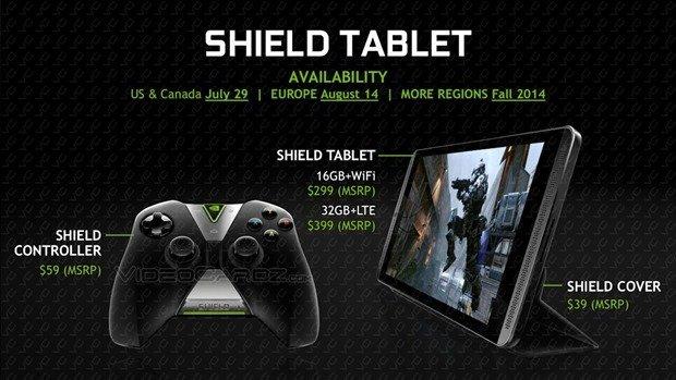 NVIDIA、Tegra K1搭載『SHIELD Tablet』発表―価格299ドルで本日予約開始ほか