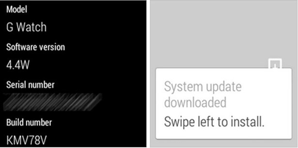 Android Wear端末にアップデート「KMV78V」配信