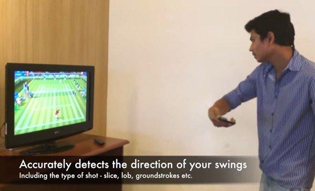 まるでWiiテニス!ChromecastとNexus 5でモーションプレイ動画