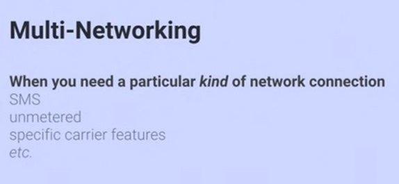 次期Android L、複数ネットワークの同時接続を維持したり、シームレスな切替に対応