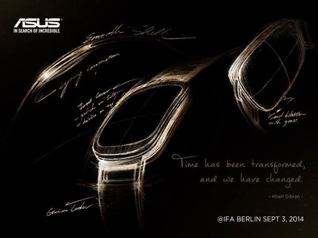 ASUS、未発表スマートウォッチの一部デザイン公開―IFA 2014発表は確実に