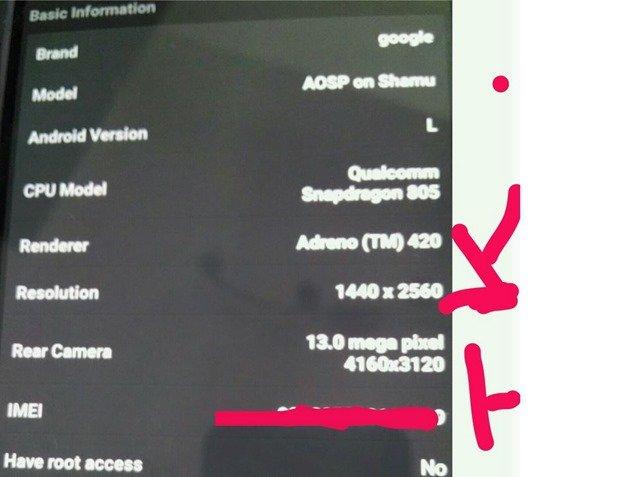 Motorola製Nexus 6とされるコードネーム「Shamu」の一部スペックがリークか