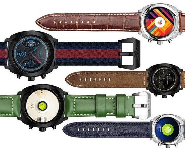 E-INKデュアル液晶で18日駆動、円形スマートウォッチ『GEAK Watch II』発表―スペックほか