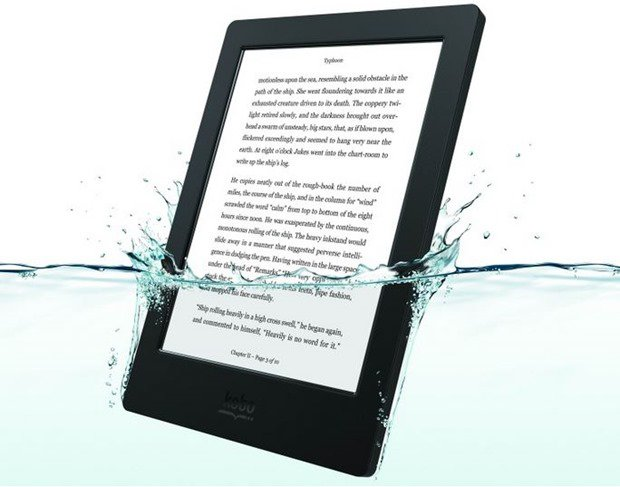 防水の電子書籍リーダー『Kobo Aura H2O』、日本発売を発表