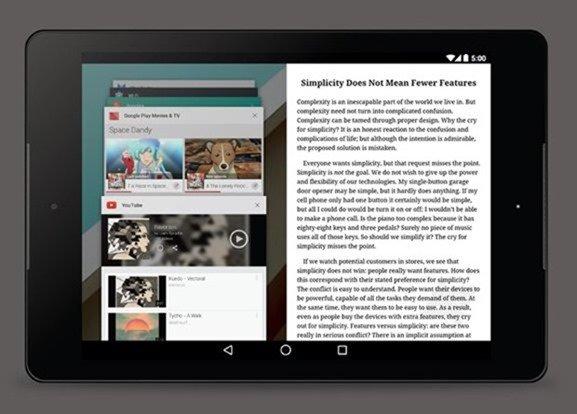 Androidでもマルチウィンドウ採用の可能性、2画面分割/画像やテキスト移動など