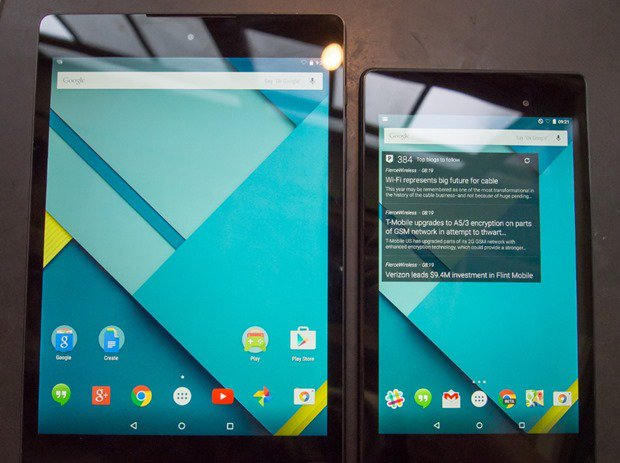『Nexus 9』のハンズオン動画、Nexus 7との比較レビュー