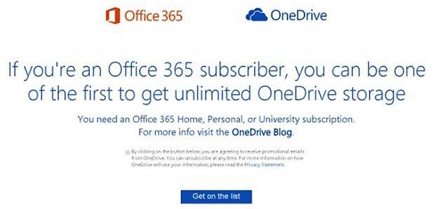 MS、Office 365利用者にOneDrive容量無制限で提供すると発表