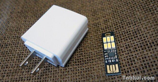 常夜灯に使えそうな両面USB接続6LEDライト購入、開封~Nexus 5やモバイルバッテリーで試用レビュー