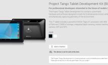 リアルタイムに立体映像を映し出す『Project Tango タブレット開発キット』がGoogle Playに登場、nanoSIMやSDカード対応などスペック表