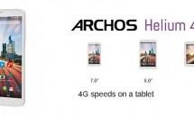 ARCHOS、4G LTE対応デュアルSIMタブレット『Helium 4G』シリーズ3機種(70/80b/101)発表・スペック情報