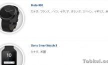 Moto 360 が7カ国のGoogle Playで追加発売、カナダ、フランス、ドイツ、、、。