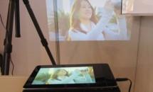 プロジェクター内蔵7型Android「ProjectorPad P70」の動画とスペック・価格