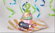 「Chromecast」2周年記念、Google Play映画1本がレンタル無料に