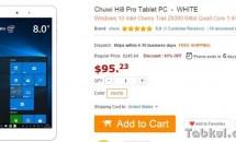 『Chuwi Hi8 Pro』が約1.17万円で発売、USB3.1 Type-CにZ8300プロセッサなどスペック表・価格