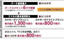 NTTドコモ、「ドコモの学割」拡充を発表