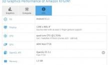 アマゾン未発表8型『KFGIWI』がGFXBenchに登場、次期Fire HD 8か―安くなる可能性も